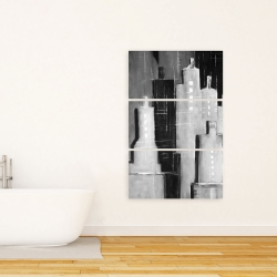 Canvas 24 x 36 - Abstract black and white cityscape