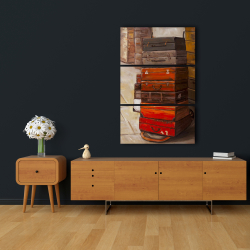 Canvas 24 x 36 - Old traveling suitcases
