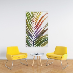 Canvas 24 x 36 - Watercolor tropical palm leave