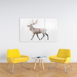 Canvas 24 x 36 - Deer and forest