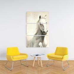 Canvas 24 x 36 - Gallant white horse