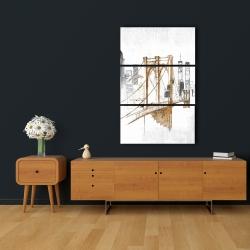 Canvas 24 x 36 - Brooklyn bridge blurry sketch