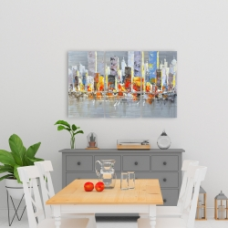 Canvas 24 x 36 - Color splash cityscape