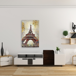 Canvas 24 x 36 - Abstract eiffel tower