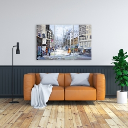Canvas 24 x 36 - Busy street by a cloudy day