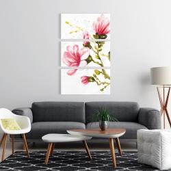 Canvas 24 x 36 - Watercolor magnolia flowers