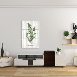 Canvas 24 x 36 - Tarragon on wood