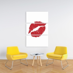 Canvas 24 x 36 - Red lipstick mark