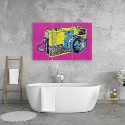 Toile 24 x 36 - Appareil photo rétro coloré