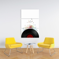 Canvas 24 x 36 - Notes from a vinyl record