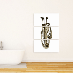 Canvas 24 x 36 -  illustration of a golf bag