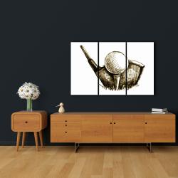 Canvas 24 x 36 - Illustration of a golf ball