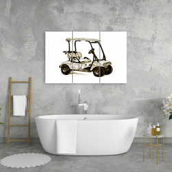 Canvas 24 x 36 - Illustration of a golf cart