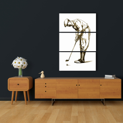 Canvas 24 x 36 - Illustration of a concentrated golfer