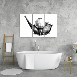 Canvas 24 x 36 - Golf ball black and white