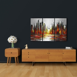 Canvas 24 x 36 - Abstract red skyline