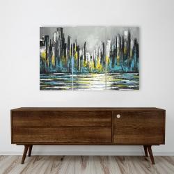 Canvas 24 x 36 - Abstract blue skyline