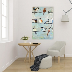 Canvas 24 x 36 - Small colorful birds