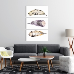Canvas 24 x 36 - Horizontal striped feather set