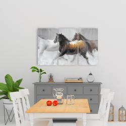 Toile 24 x 36 - Troupeau de chevaux sauvages