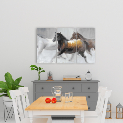 Canvas 24 x 36 - Herd of wild horses