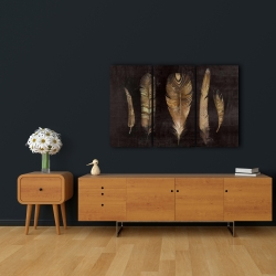 Canvas 24 x 36 - Brown feather set