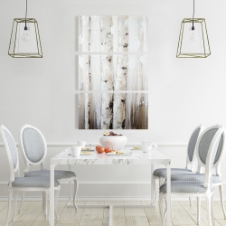 Canvas 24 x 36 - Abstract white birches
