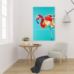 Canvas 24 x 36 - Abstract flamingo