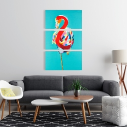 Canvas 24 x 36 - Colorful flamingo