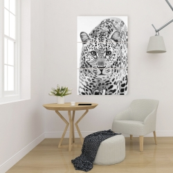 Canvas 24 x 36 - Leopard ready to attack