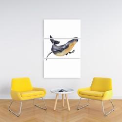 Canvas 24 x 36 - Watercolor blue whale