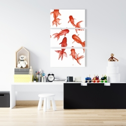 Canvas 24 x 36 - Red fishes