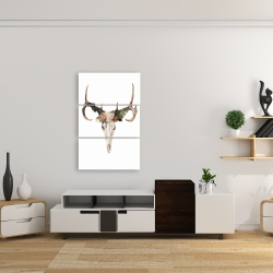 Canvas 24 x 36 - Deer skull with roses