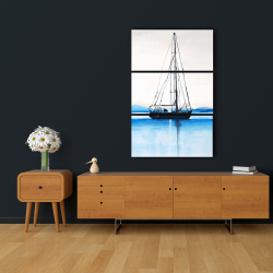 Canvas 24 x 36 - Sailboat on a calm water