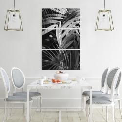 Canvas 24 x 36 - Monochrome tropicals leaves