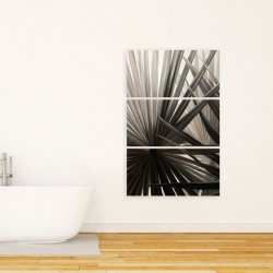 Canvas 24 x 36 - Grayscale tropical plants