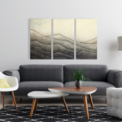 Toile 24 x 36 - Montagnes désaturés
