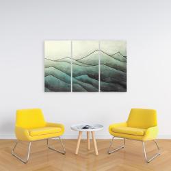 Toile 24 x 36 - Montagnes en tons de gris