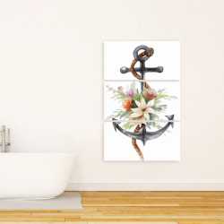 Canvas 24 x 36 - Anchor with flowers