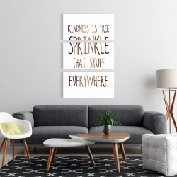 Canvas 24 x 36 - Kindness is free sprinkle that stuff everywhere