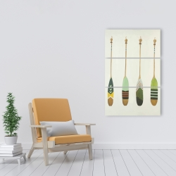 Canvas 24 x 36 - Colorful nautical oars