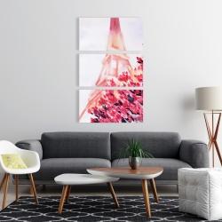 Canvas 24 x 36 - Pink eiffel tower