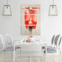 Canvas 24 x 36 - Small red moped