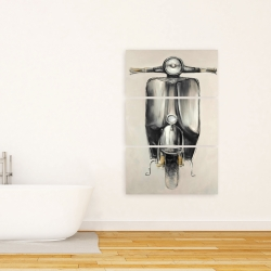 Canvas 24 x 36 - Small black moped