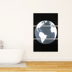 Canvas 24 x 36 - Earth satellite view