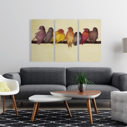 Canvas 24 x 36 - Bird family