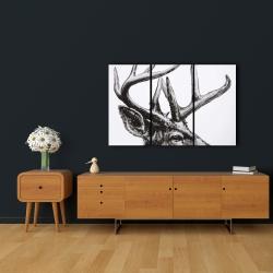 Canvas 24 x 36 - Roe deer plume
