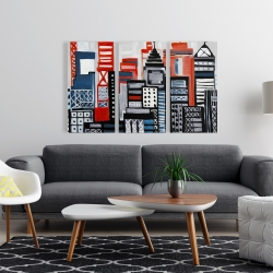 Canvas 24 x 36 - Geometric urban landscape