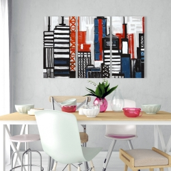 Canvas 24 x 36 - Geometric towers and buildings
