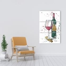Canvas 24 x 36 - Bottle of red wine